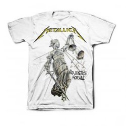 Metallica - Mens Justice White T-Shirt