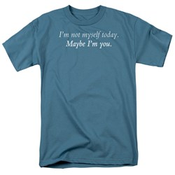 Not Myself - Adult Slate S/S T-Shirt For Men