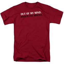 Out Of My Mind - Adult Cardinal S/S T-Shirt For Men