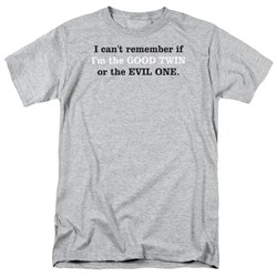 Good Or Evil Tiwn - Adult Ath. Heather S/S T-Shirt For Men