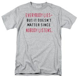 Everybody Lies - Adult Heather S/S T-Shirt For Men