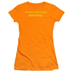 Guys Are Just Weird - Juniors Ginger Sheer Cap Sleeve T-Shirt For Women
