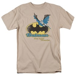 Batman Caped Crusader Retro - Adult Sand S/S T-Shirt For Men