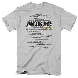Cheers - Normisms - Adult Silver S/S T-Shirt For Men