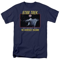 St:Original - The Doomsday Machine - Adult Navy T-Shirt For Men