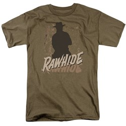 Rawhide - Adult Safari Green S/S T-Shirt For Men