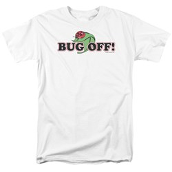 Garden - Bug Off Adult White S/S T-Shirt For Men