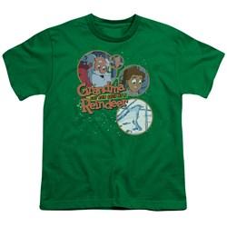 Grandma - Santa And Family - Big Boys Kelly Green S/S T-Shirt For Boys