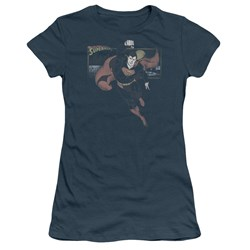 Superman This Is A Job For Juniors S/S T-shirt in Slate by DC Comics