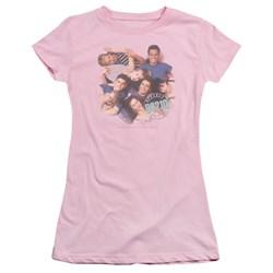 Cbs - Beverly Hills 90210 / Gang In Logo Juniors T-Shirt In Pink