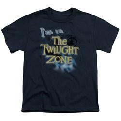 Cbs - Twilight Zone / I'M In The Twilight Zone Big Boys T-Shirt In Navy