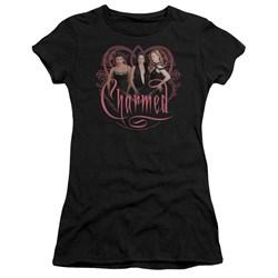Cbs - Charmed / Charmed Girls Juniors T-Shirt In Black