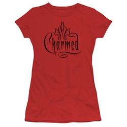 Cbs - Charmed / Charmed Logo Juniors T-Shirt In Red
