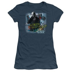 Cbs - Truth Doesn't Sleep Juniors T-Shirt In Slate