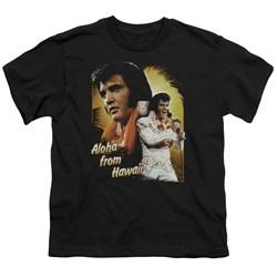 Elvis - Aloha Youth T-Shirt In Black