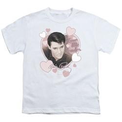 Elvis - Love Me Tender Youth T-Shirt In White