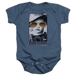 Elvis - Born To Rock Infant T-Shirt In Indigo