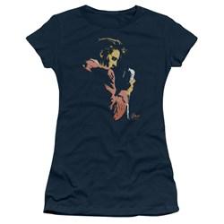 Elvis - Early Elvis Juniors T-Shirt In Navy