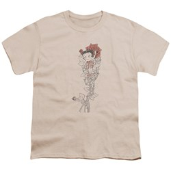 Betty Boop - Thorns Big Boys T-Shirt In Cream