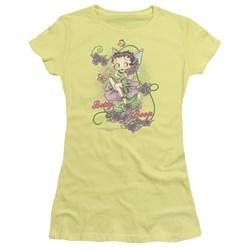 Betty Boop - Flower Vine Fairy Juniors T-Shirt In Banana
