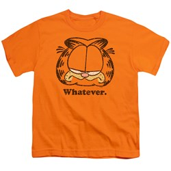 Garfield - Whatever Big Boys T-Shirt In Orange