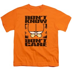 Garfield - Don't Know, Don't Care Big Boys T-Shirt In Orange