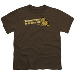 Garfield - To Know Me Is To Love Me Big Boys T-Shirt In Coffee