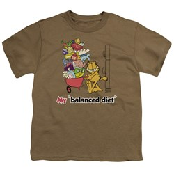 Garfield - Balanced Diet Big Boys T-Shirt In Safari Green