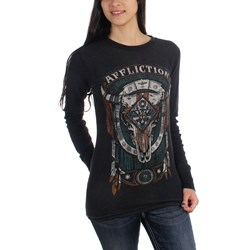 Affliction - Womens Land Of The Free Longsleeve Reversible Thermal