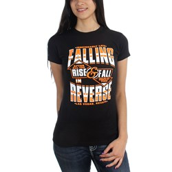 Falling In Reverse - Womens Rise Fall T-Shirt