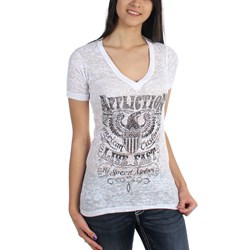 Affliction - Womens Motorworks V-Neck T-Shirt
