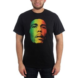 Bob Marley - Face Adult T-Shirt in Black