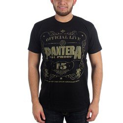 Pantera - Mens 101 Proof T-Shirt in Black