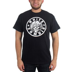 White Zombie - Mens Classic Zombie Logo T-Shirt in Black