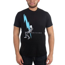 Queens of the Stone Age - Mens Lightning Dude Fitted T-Shirt in Black