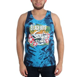 The Beach Boys - Mens Surfin USA Tie Dye Tank Top