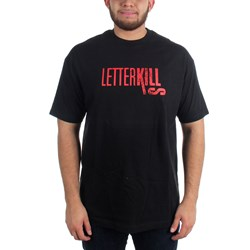 Letterkills - Mens Enclosed T-shirt in Black