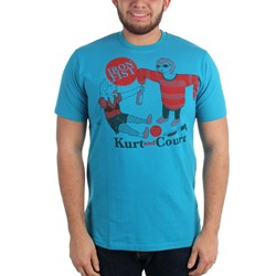 Kurt 'n Court Mens S/S T-shirt in Teal by Iron Fist