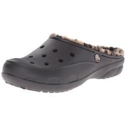 Crocs - Womens Freesail Leopard Fuzz Lined Clog