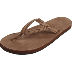 Rainbow - Womens Flirty Braidy Single Layer Leather Sandals