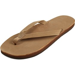 Rainbow - Womens Premier Leather Single Layer Narrow Strap Sandals