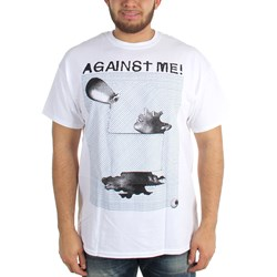 Against Me - Mens Sculpture White T-Shirt