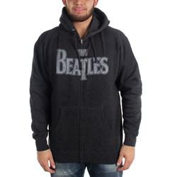 Beatles, The - Mens Vintage Logo Zip Hoodie