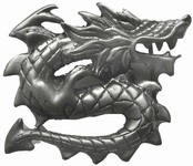 Dragon Collection Belt Buckle (Silver Grey)