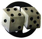 TWIN DICE SPINNER buckle (Silver Grey and Black)