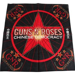 Guns N Roses - Chinese Democracy Bandana In Black/Red