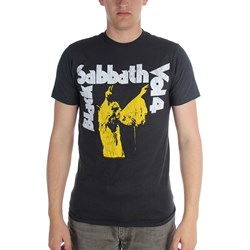 Black Sabbath - Mens Vol 4 Yellow T-Shirt in Black