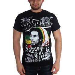 Bob Marley - Mens  Freedom T-Shirt In Black