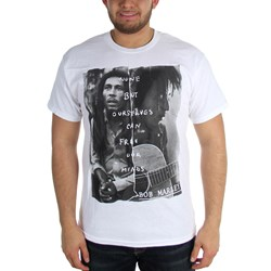 Bob Marley - Free Our Minds Mens T-Shirt In White