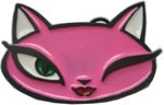 WINKING PUSSY buckle (Black, White, Pink)
